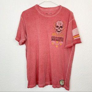 Affliction Eddie Burnout Distressed Shirt Large